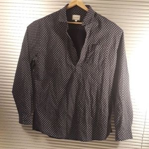Frank and Oak Dot Chambray Shirt- Size L